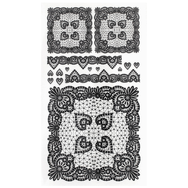 Daily Charme Nail Art Decals Sticker Decal - Lace Squares