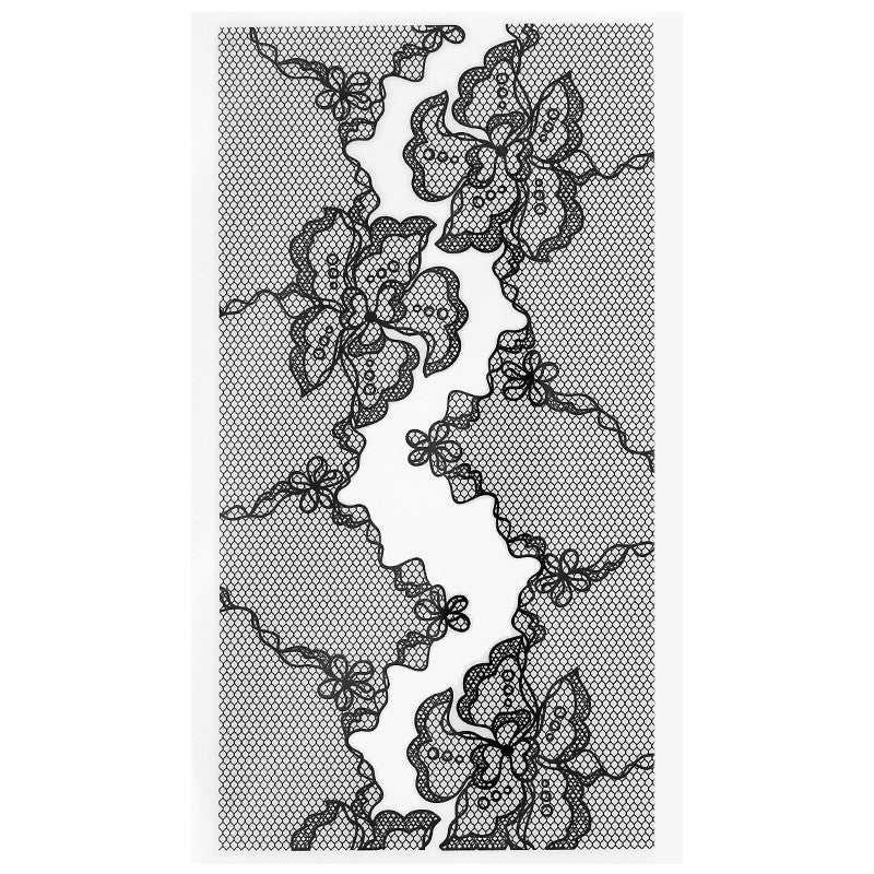 Dail Charme Nail Art Decal Sticker Decal - Floral Fishnet Lace