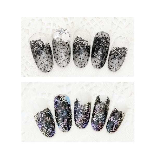 Daily Charme Nail Art Decal Sticker Decal - Rococo Floral Lace