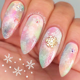 Daily Charme Nail Art Sticker Decal - Snowy Lace