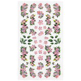 Daily Charme Nail Art Sticker Decal Pink Spring Flowers
