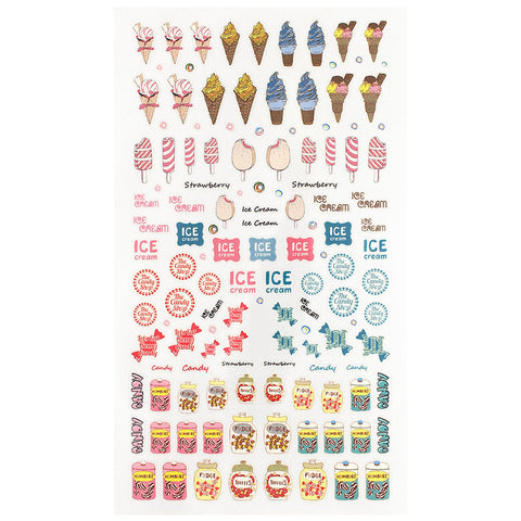 Daily Charme Nail Art Sticker Decal Delicious Candy & Ice Cream