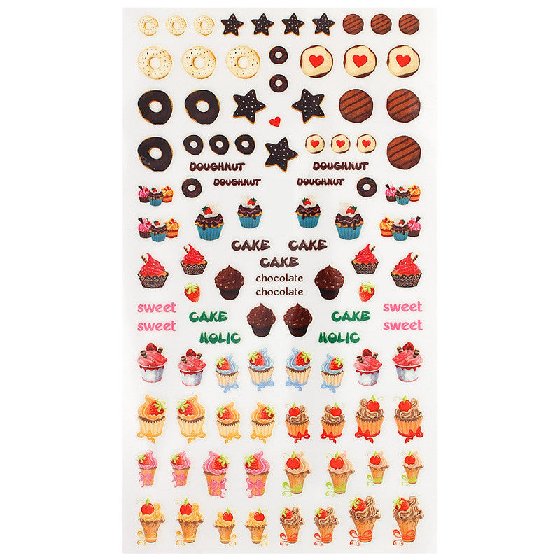 Daily Charme Nail Art Sticker Decal Sweet Desserts
