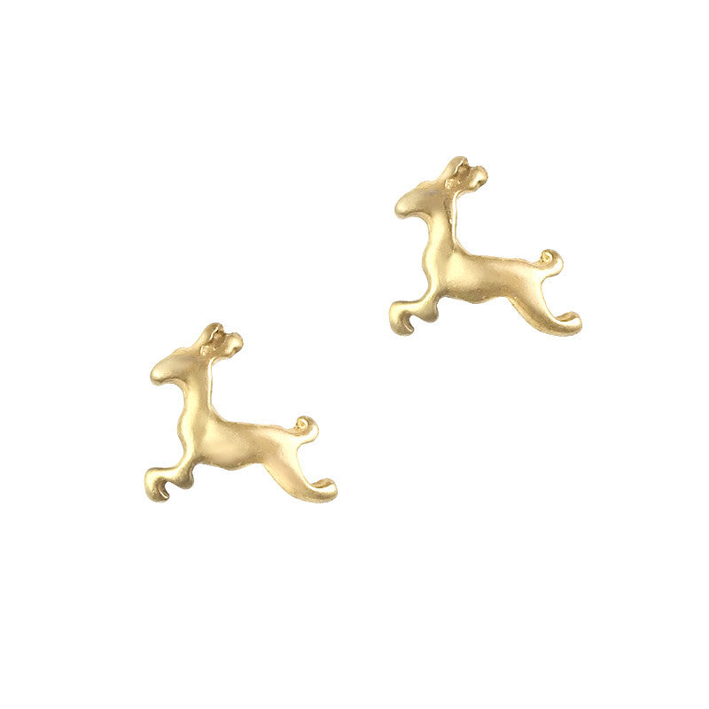 Retro Nail Charm Jewelry / Reindeer Holiday Christmas