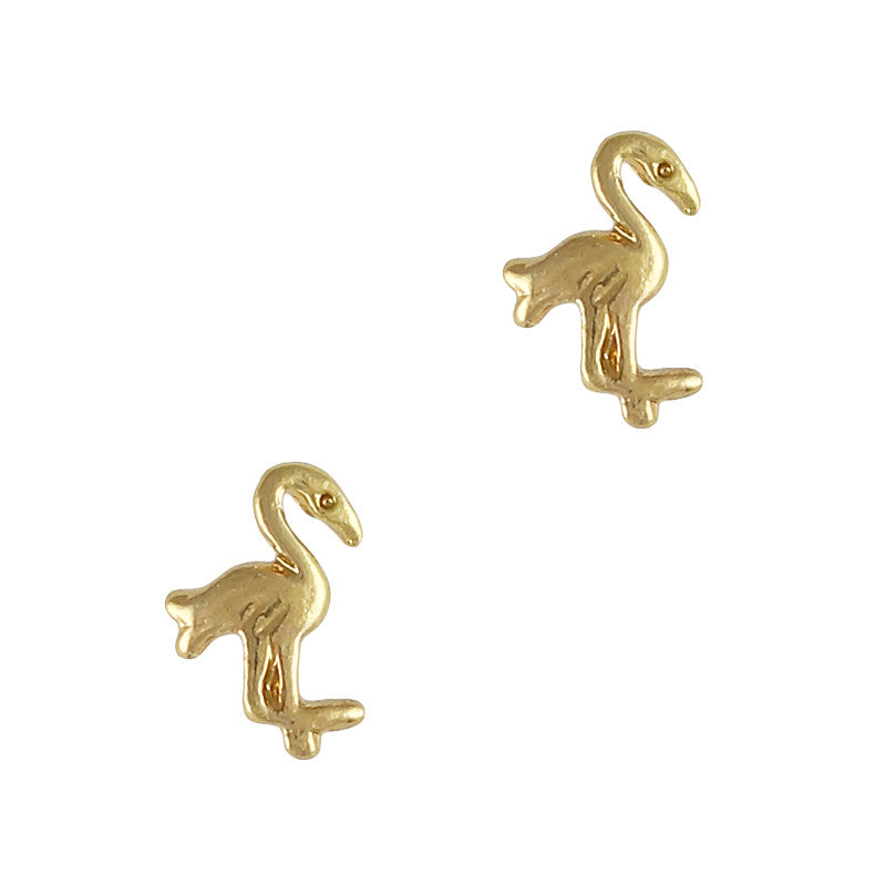 Retro Charms / Flamingo / Gold