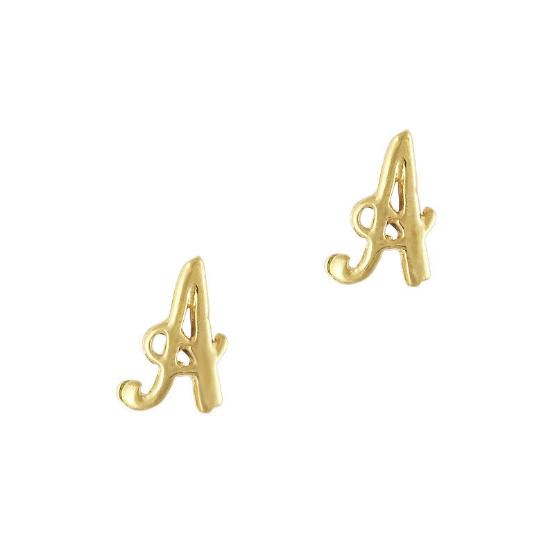 Retro Nail Charm Jewelry / Letter A