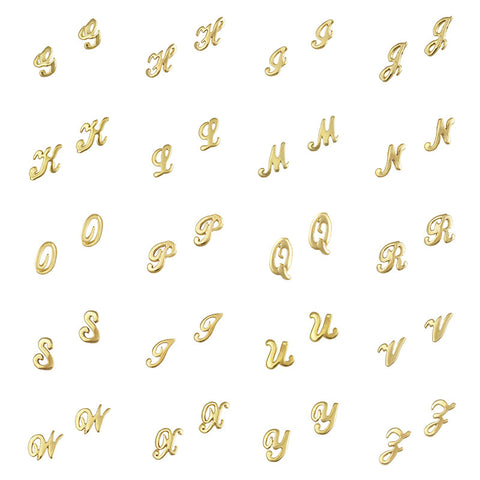 Retro Nail Charm Jewelry / Alphabets