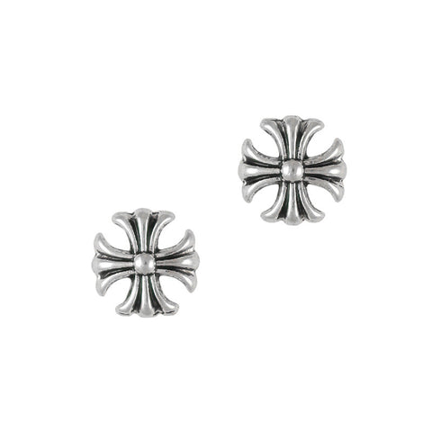 3D Nail Art Charm Jewelry Silver Antique Cross