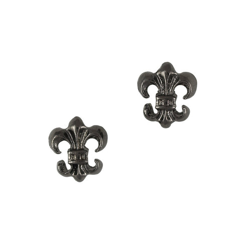 3D Nail Art Charm Jewelry Antique Fleur-de-lys / Gunmetal