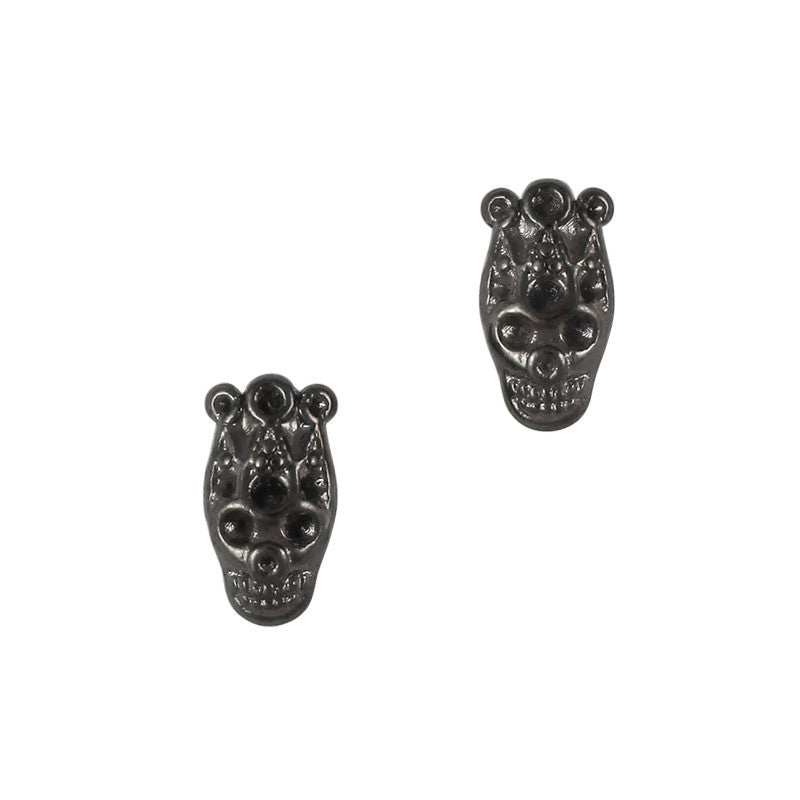 3D Nail Art Charm Jewelry Skull King Gunmetal