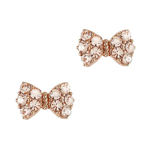Princess Bow Swarovski Charm Rose Gold Silk Crystal 3D Nail Art