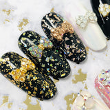 Nail Art Princess Bow / Swarovski Charm / Gold / Metallic Sunshine