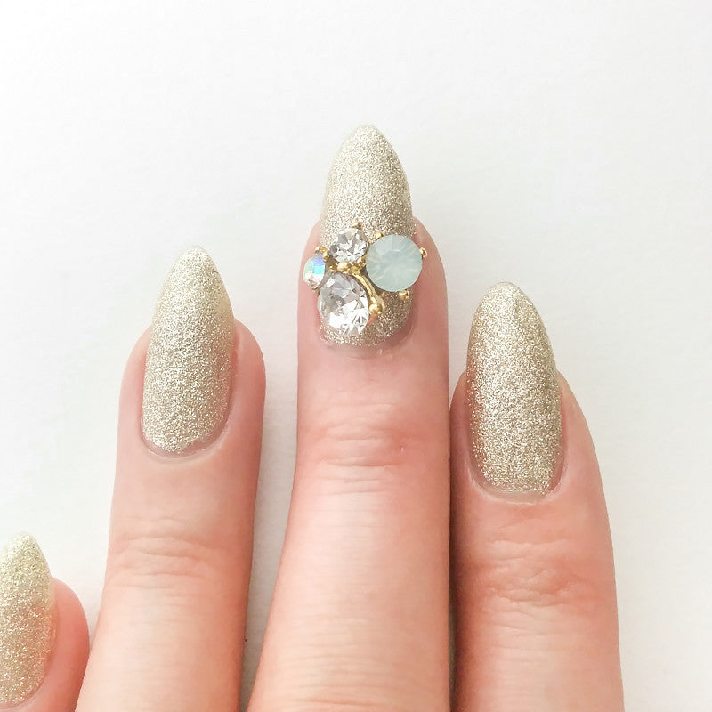 Nail Art Decoration - Opal Crystal Cluster