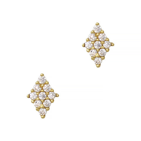 Daily Charme Nail Art Charms Mini Rhombus / Zircon Charm / Gold