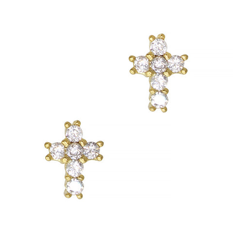Daily Charme Nail Art Charms Mini Cross / Zircon Charm / Gold