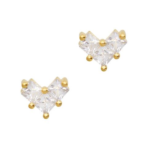 Daily Charme Nail Art Charms Simple Square Cluster / Zircon Charm / Gold