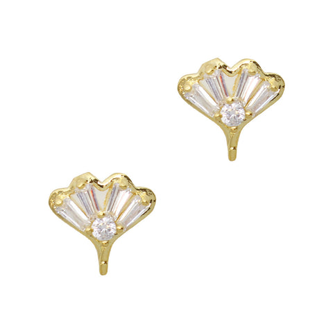 Daily Charme Nail Art Charms Ginkgo Leaf / Zircon Charm / Gold