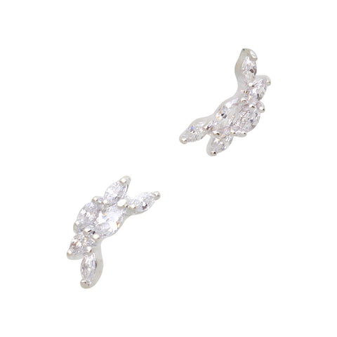 Daily Charme Nail Art Charms Leaf Arch / Zircon Charm / Silver