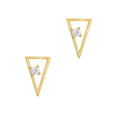 Daily Charme Nail Art Charms Gatsby Simple Triangle / Zircon Charm / Gold