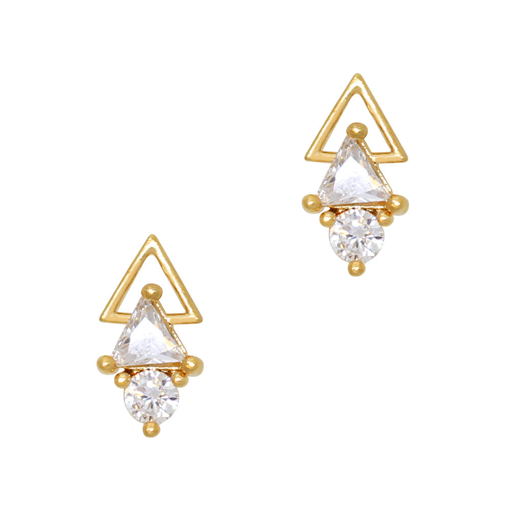 Daily Charme Nail Art Charms Gatsby Art Deco Arrow / Zircon Charm / Gold