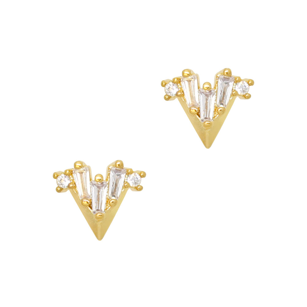 Daily Charme Nail Art Charms Gatsby Art Deco Point / Zircon Charm / Gold