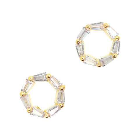 Daily Charme Nail Art Charms Crystal Circle / Zircon Charm / Gold