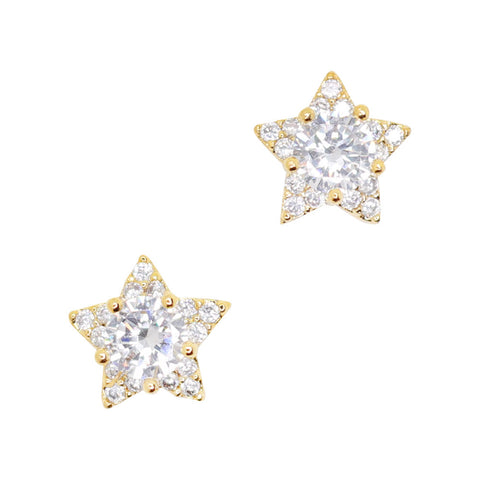 Daily Charme Nail Art Charms Mystical Star / Zircon Charm / Gold