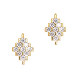 Daily Charme Nail Art Charms Art Deco Diamond / Zircon Charm / Gold