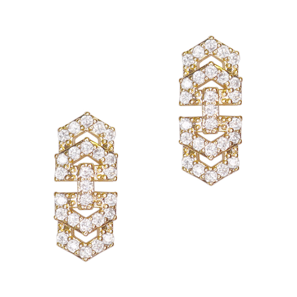Bedazzled Chain / Zircon Charm Gold for Nail Art