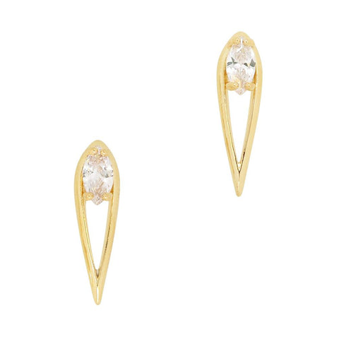 Daily Charme Lustrous Stiletto Zircon Gold Clear Charms Vintage Shape charm sleek luxurious design perfect stiletto set fierce elegant claws Reusable curved natural shape of  nails