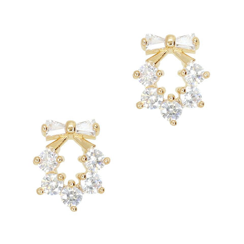 Daily Charme Jeweled Wreath Zircon Gold Clear Charms Holiday Nature Jeweled Wreath charm charming festive design perfect accessories Happy Holiday manicure simple elegant Christmas tree
