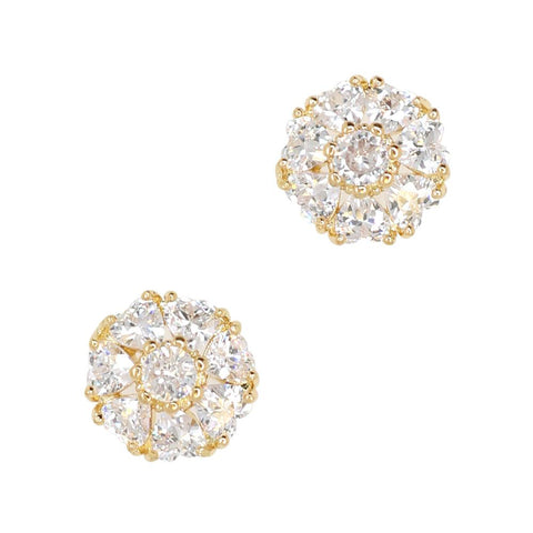 Daily Charme Primrose Pendent Zircon Gold Clear Charms Nature Shape adorable carousel charm perfect jewely nail shape sparkly round heart zircon crystals resemble symbolizes youth nails bloom