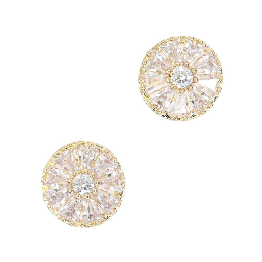 Daily Charme Diamond Daisy Zircon Charm Gold Clear Charms Nature Shape simple cute charm perfect jewelry any nail shape charm sparkly round and triangle diamond zircon crystals Norse mythology daisy  sacred flower goddess Freya innocence purity beginnings pure elegance nails