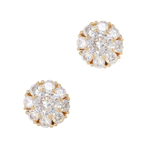 Daily Charme Marigold Medallion Zircon Gold Clear Charms Nature Shape Reusable curved natural shape nails beautiful zircon charm perfect jewelry sparkly round crystals gold hardware Design symbolic sun passion creativity Brighten