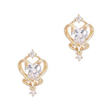 Daily Charme Pure Heart Zircon Gold Clear Charms Kawaii Shape Symbol Reusable curved natural shape nails ornament topper fairy wand intricate cute all nail shapes enchanted touch