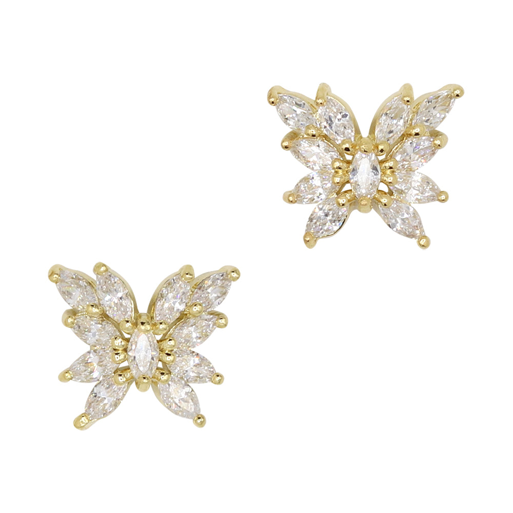 Pixie Wings / Zircon Charm / Gold Spring Butterfly Nail Art Jewelry