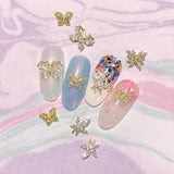 Mary Jane / Zircon Charm / Gold Hemp Weed Nail Art Decor Butterfly