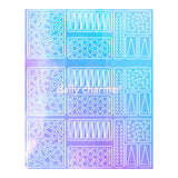 Aurora Film Nail Art Stencil Sticker / Triangles