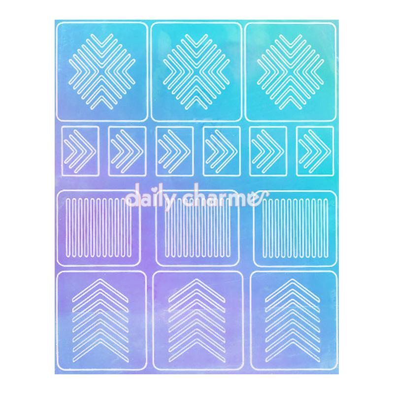 Aurora Film Nail Art Stencil Sticker / Arrows