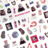 Furry Friends Nail Art Sticker / Playful Cats Design Kawaii