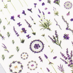 Daily Charme Floral Nail Art Sticker / Provence Lavender Purple Flower