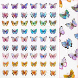 Holographic Butterfly Nail Art Sticker / Pastel Dream Rainbow