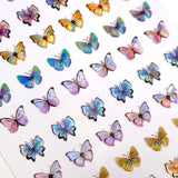 Holographic Butterfly Nail Art Sticker / Pastel Dream Nail Art