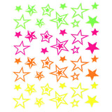 Daily Charme Nail Art Stickers Neon Stars
