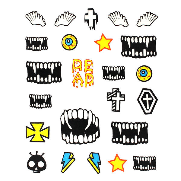 Daily Charme Nail Art Stickers Halloween Deadly Fangs