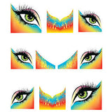 Daily Charme Water Transfer Nail Decal French Mani - Rainbow Eyes