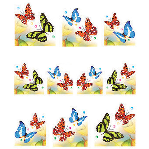 Daily Charme Water Transfer Nail Decal French Mani - Butterflies