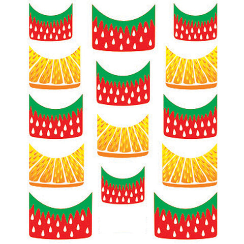 Daily Charme Water Transfer Nail Decal French Mani - Strawberry & Citrus