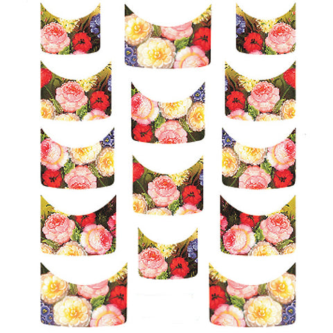 Daily Charme Water Transfer Nail Decal French Mani - Still Life Bouquet