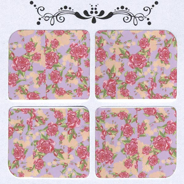 Daily Decals / Vintage Roses Over Lavender